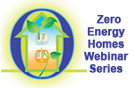 "The ""Zero Energy Homes Webinar Series"" Logo."